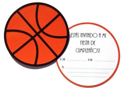 Invitación de baloncesto, hecha a mano.