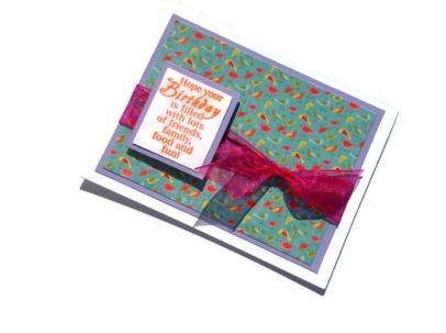 Hermosa tarjeta de cumpleaños hecha a mano, inglés.