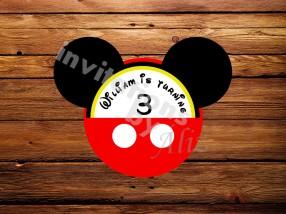 Invitación - Mickey Mouse