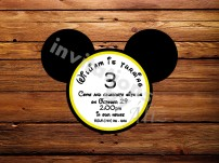 Invitación - Mickey Mouse