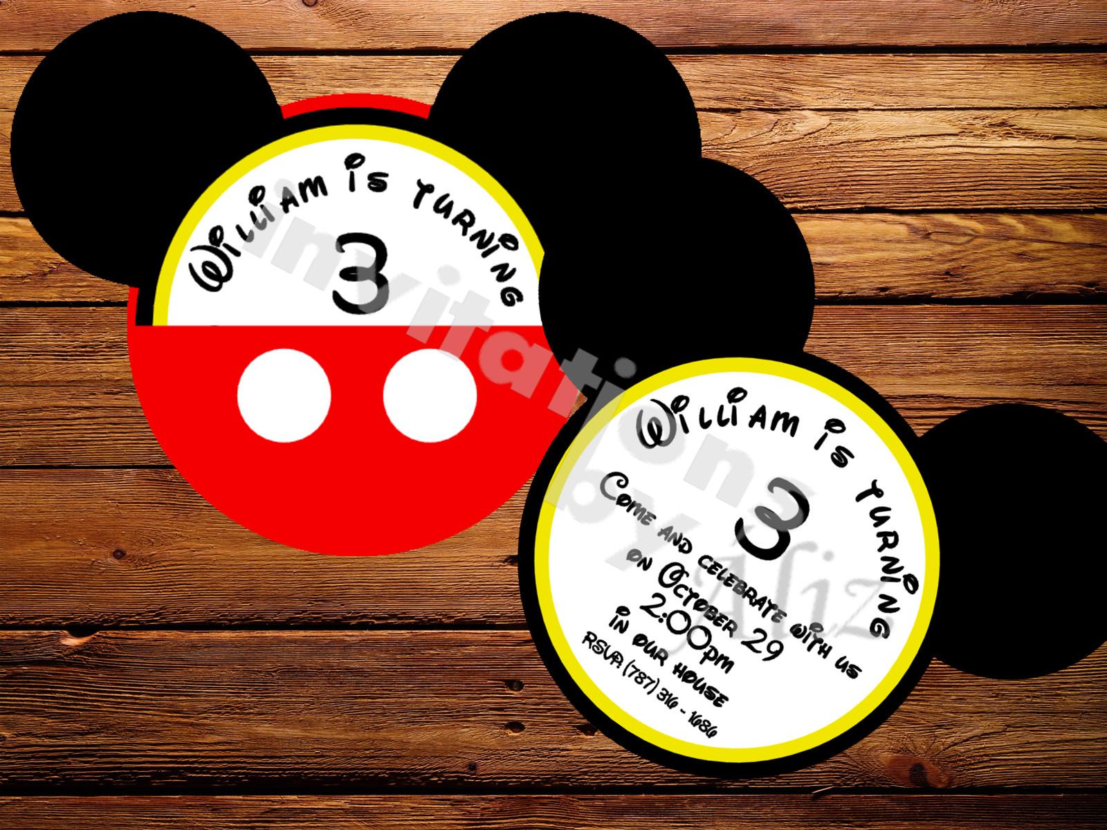 Invitación Mickey Mouse Invitations By áliz