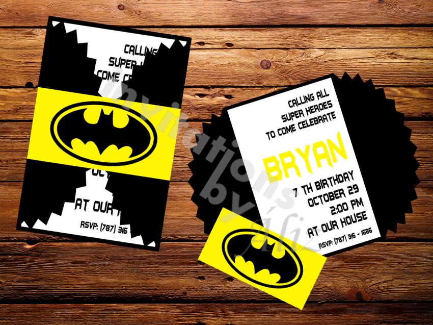 Batman Photo Invitations was good invitation example