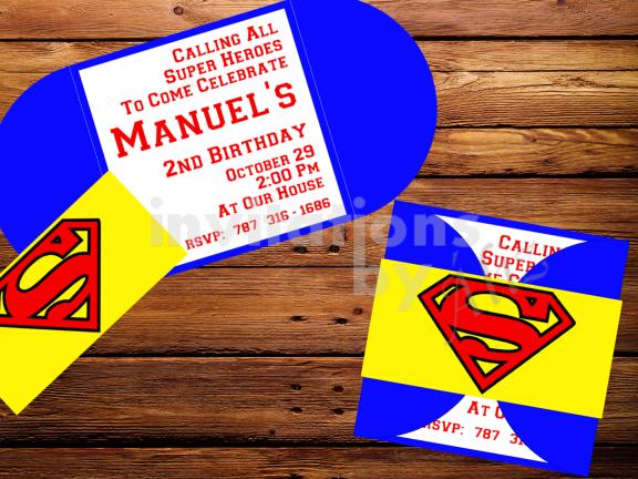 Invitación Superman.