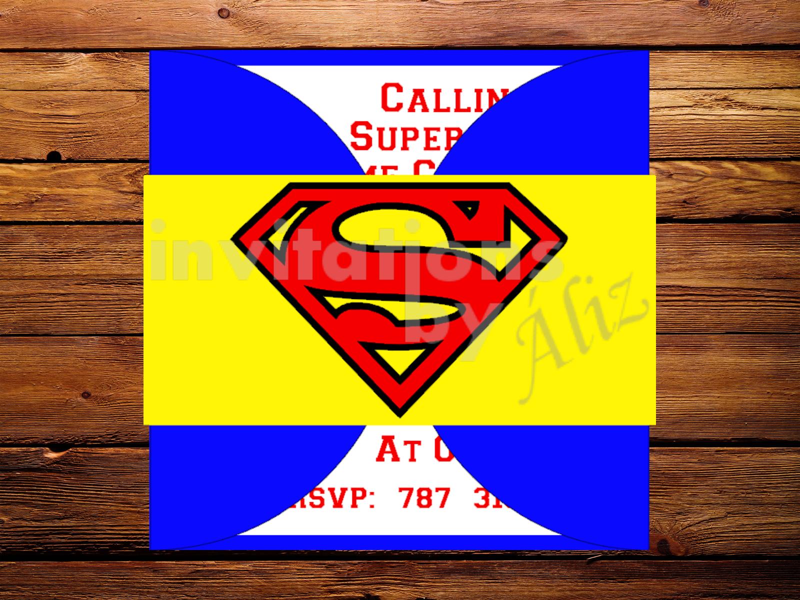 Invitación Superman. – Invitations by Áliz