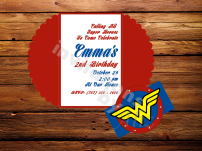 Wonder Woman invitations